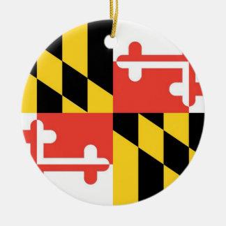 Maryland-Staats-Flaggen-Verzierung Keramik Ornament