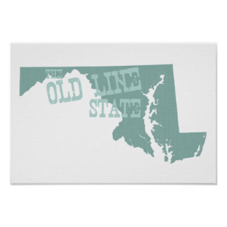 Maryland-Staats-Motto-Slogan Poster