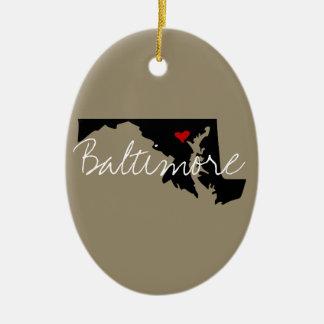 Maryland-Stadt Keramik Ornament