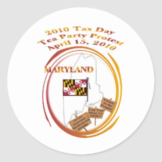 Maryland-Steuer-Tagestee-Party-Protest Runder Sticker