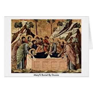 Marys Beerdigung durch Duccio Grußkarte