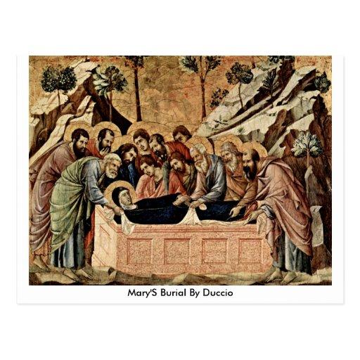 Marys Beerdigung durch Duccio Postkarte