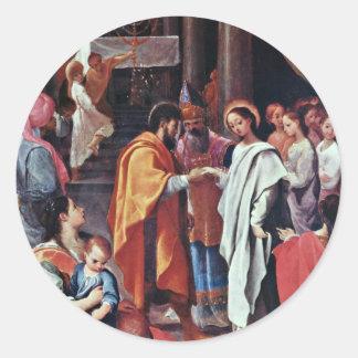 Marys Hochzeit durch Ludovico Carracci beste Qual Stickers