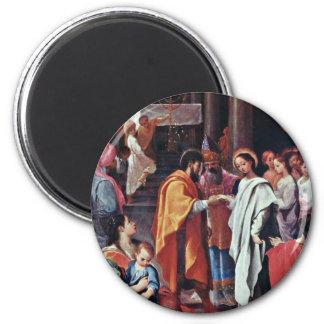 Marys Hochzeit durch Ludovico Carracci (beste Qual Kühlschrankmagnet