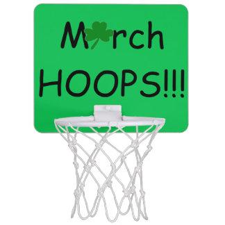 März-Band-Kleeblatt-Basketball-Spaß Mini Basketball Netz