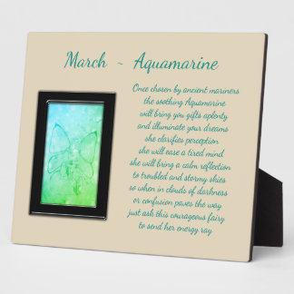 März Birthstone Aquamarine Fotoplatte