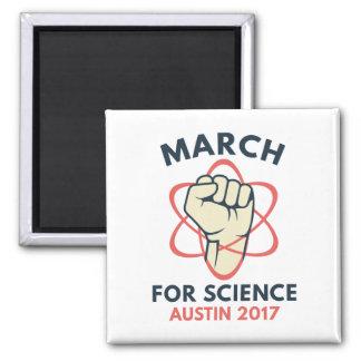 März für Wissenschaft Austin Quadratischer Magnet
