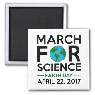 März für Wissenschaft Quadratischer Magnet