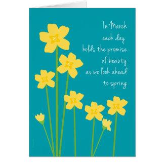 März-Geburts-Monats-Narzissen-alles Gute zum Karte