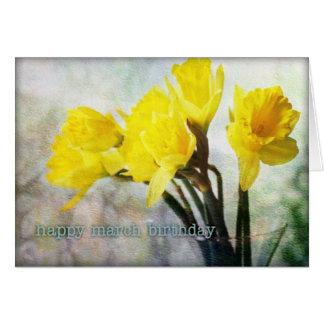 März-Geburtstags-Blumen-Narzisse #1 Karte