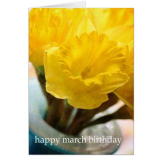 März-Geburtstags-Blumen-Narzisse #2 Mitteilungskarte