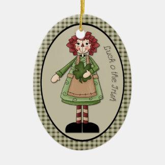 """März-Glück O die irische"""" Verzierung Ovales Keramik Ornament"""