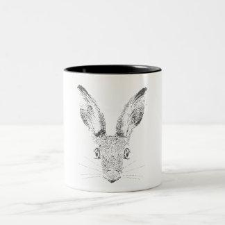 März-Hasen Zweifarbige Tasse