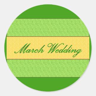 """""""März-Hochzeits-"""" eleganter Aufkleber"""
