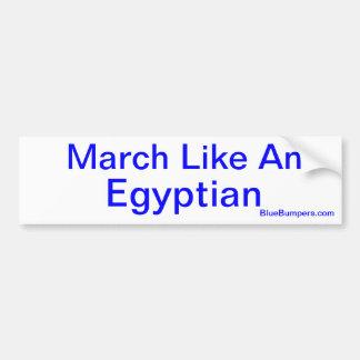 März mögen einen Ägypter Autoaufkleber
