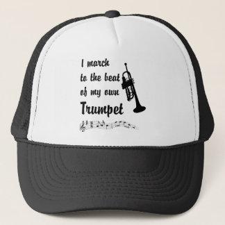 März zum Schlag: Trompete Truckerkappe