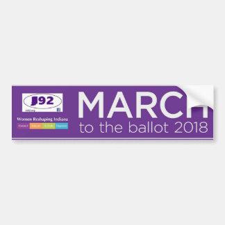 März zum Stimmzettel-Autoaufkleber 2018 Autoaufkleber
