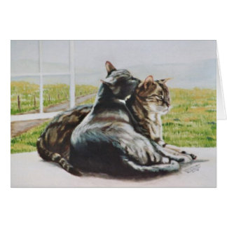 """""""Marzipan- und Wolken"""" Katzenporträtkarte Karte"""
