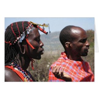 Masaai Krieger Karte