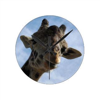 Masai-Giraffe Runde Wanduhr