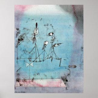 Maschine Paul Klees Twittering Poster