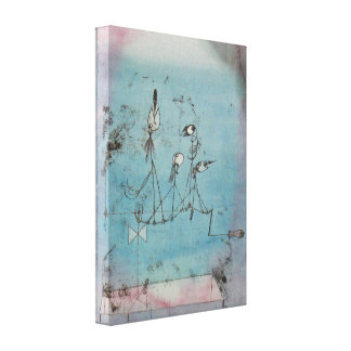 Maschinen-Leinwand-Plakat Pauls Klee Twittering Gespannte Galeriedrucke