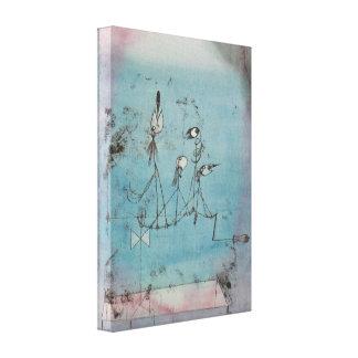 Maschinen-Leinwand-Plakat Pauls Klee Twittering Leinwanddruck