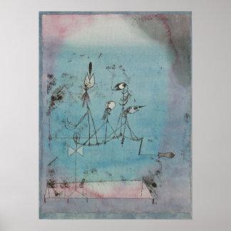 Maschinen-Plakat Paul Klees Twittering Poster