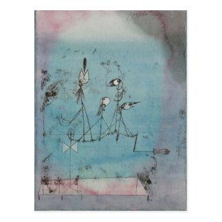 Maschinen-Postkarte Paul Klees Twittering Postkarte