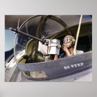 Maschinengewehr des Marine-Kriegs-Vogel-30-Calibre Plakate