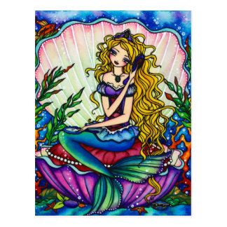 Maschinenhälften-Meerjungfrau-Fantasie-feenhafte Postkarte