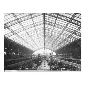 Maschinerie Hall, universelle Ausstellung Postkarte