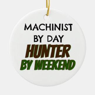 Maschinist durch Tagesjäger bis zum Wochenende Keramik Ornament