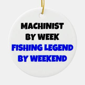 Maschinist durch Wochen-Fischen-Legende bis zum Keramik Ornament