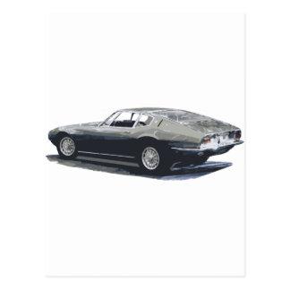 Maserati Ghibli klassisches Zeichnen Postkarten