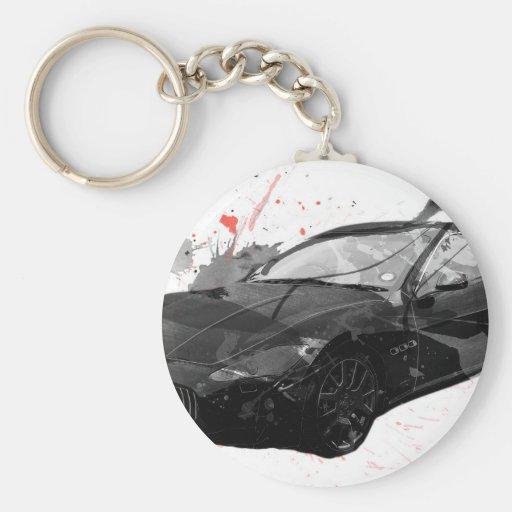 maserati GT-Autoillustration Schlüsselanhänger