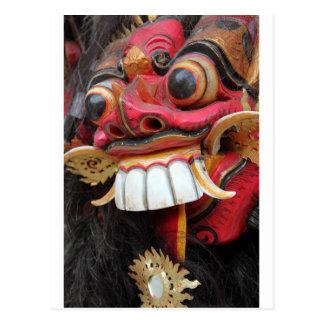 Maske Balis Barong Postkarte