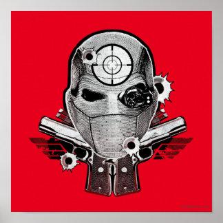 Maske der Selbstmord-Gruppen-| Deadshot u. Poster