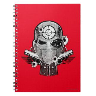 Maske der Selbstmord-Gruppen-  Deadshot u. Spiral Notizblock