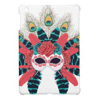 Maske mit Rosen und Feathers2 iPad Mini Hülle