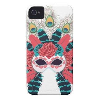 Maske mit Rosen und Feathers2 iPhone 4 Etuis