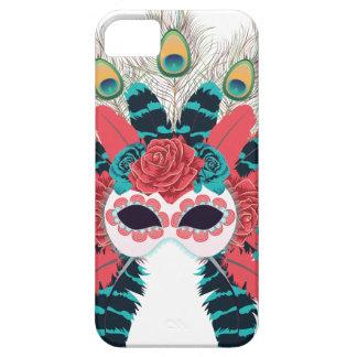 Maske mit Rosen und Feathers2 iPhone 5 Hülle