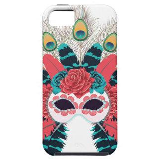 Maske mit Rosen und Feathers2 Schutzhülle Fürs iPhone 5