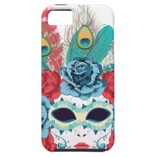 Maske mit Rosen und Feathers3 Etui Fürs iPhone 5