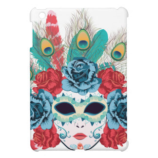 Maske mit Rosen und Feathers3 iPad Mini Hülle