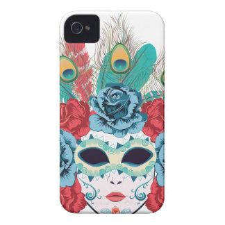 Maske mit Rosen und Feathers3 iPhone 4 Hüllen