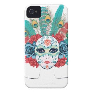 Maske mit Rosen und Federn Case-Mate iPhone 4 Hülle