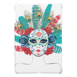 Maske mit Rosen und Federn iPad Mini Hülle