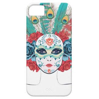 Maske mit Rosen und Federn iPhone 5 Schutzhülle