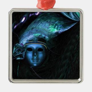 Maske Silbernes Ornament